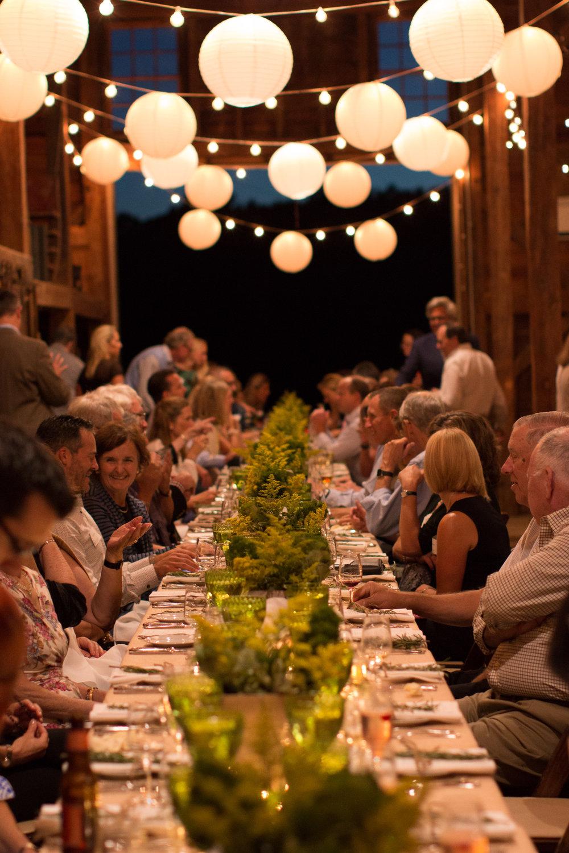 Event Dinner in Barn