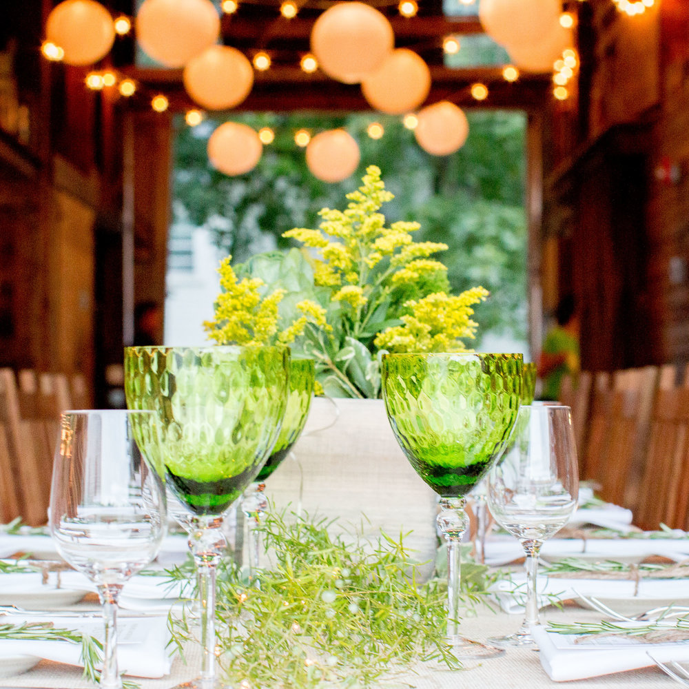 Tablescape in Barn