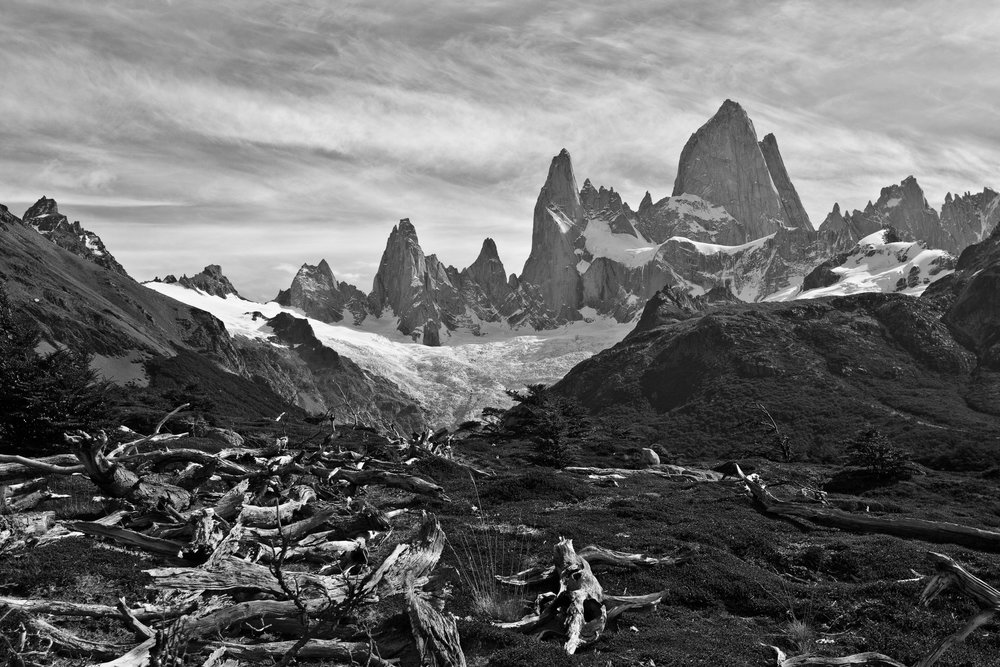 Fitz Roy in Black and White
