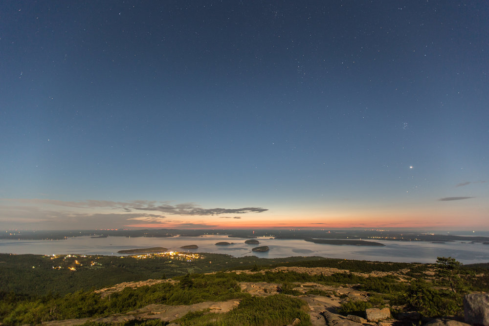 Cadillac Mountain Night Sky