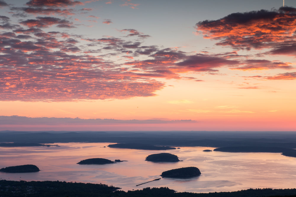Pink Sunrise from Cadillac Mountain