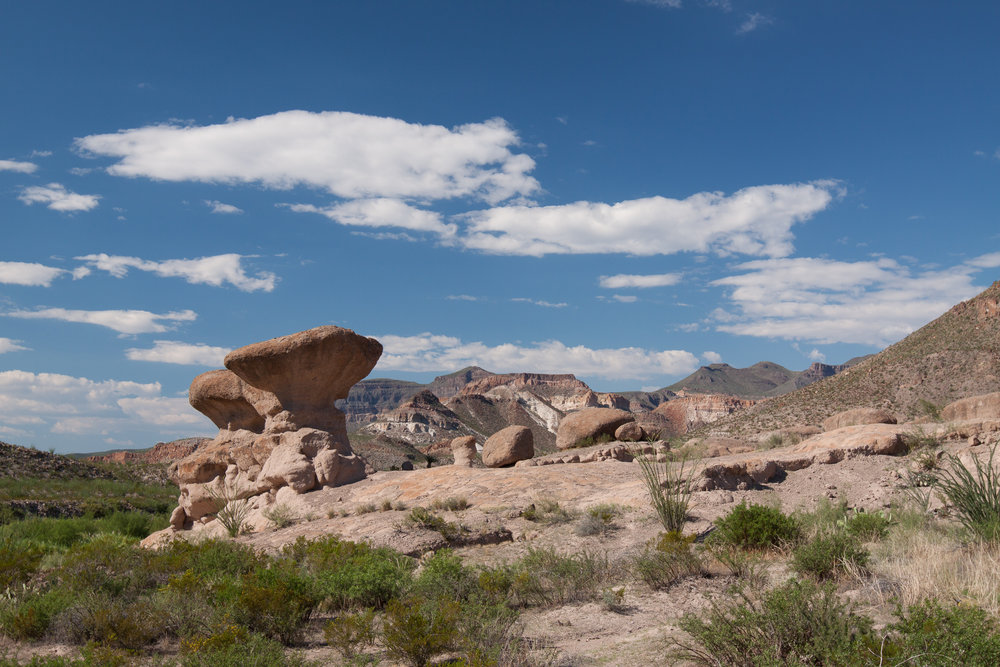 Big Bend Rock Formations