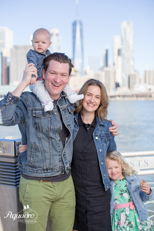 Family of Four Mini Session in Brooklyn Bridge Park