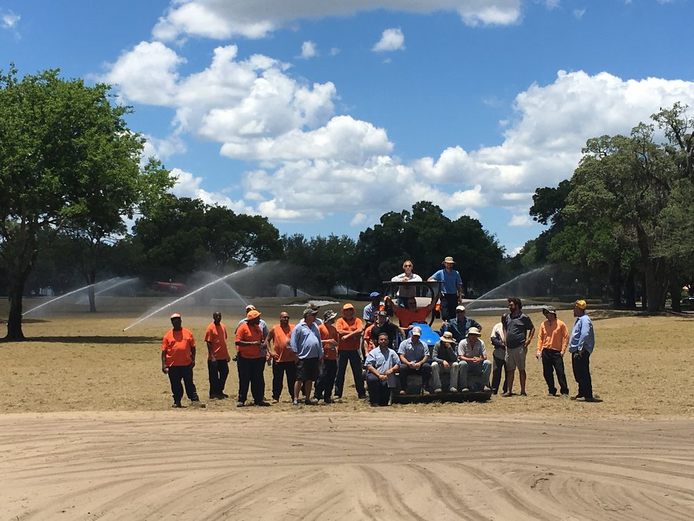 City of Winter Park assisted with spriging all 9 holes