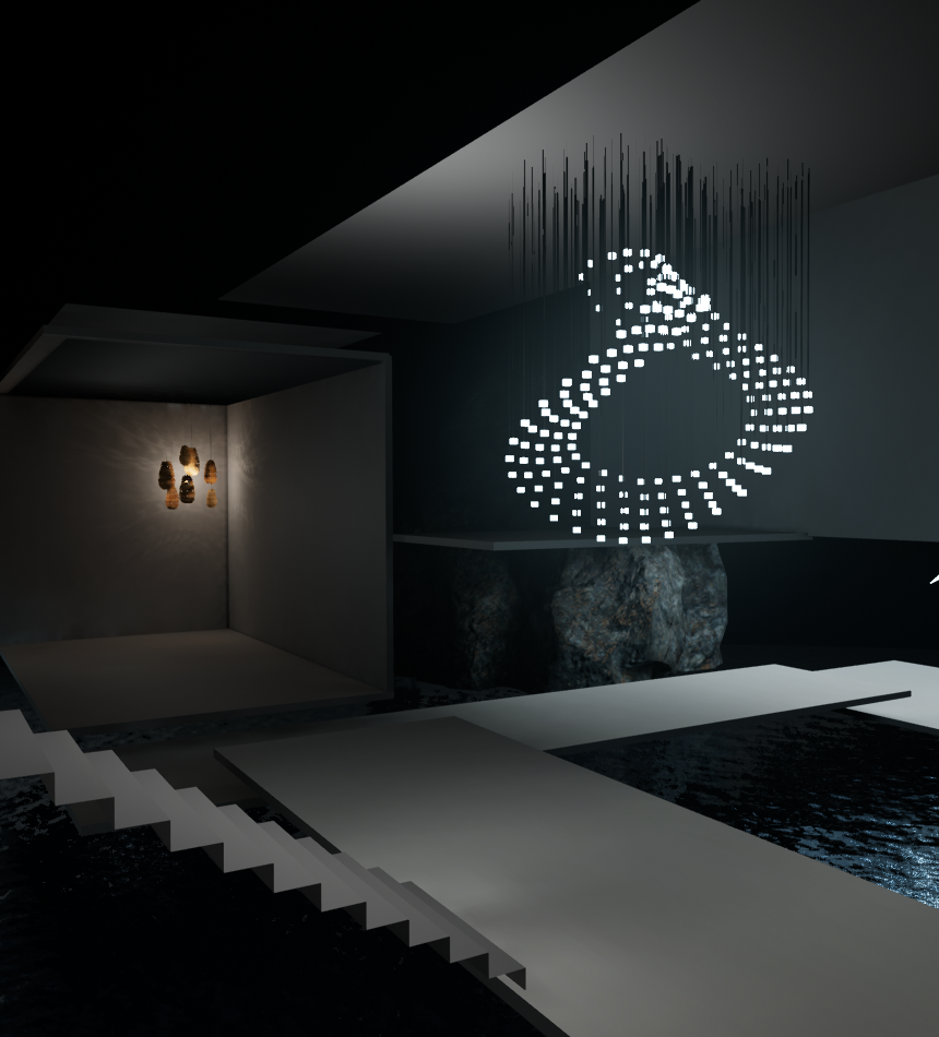 A Virtual View of a Lighting Showroom