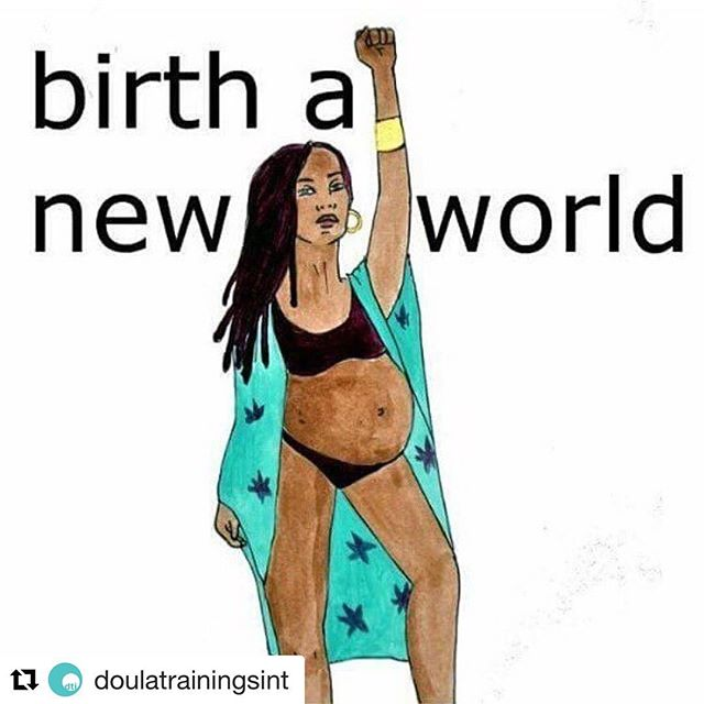 All. Of. This.  #Repost @doulatrainingsint (@get_repost) ・・・ Birth work IS social justice work. Our mission to improve the birth & postpartum experience is universal, but creating that change goes beyond good intentions. It means we're intentional in respecting cultural context and putting the needs of those directly affected by our work, the people carrying the babies, first and foremost. ✊🏽 The same voices that get overlooked in society in general get overlooked in the #birth industry. We strive to be as inclusive as possible, representing the beautiful spectrum of experiences that all humans face at the intersection of birth and bodily autonomy. We want to give the gift of CHOICE. But to be able to do that, we have to have the difficult conversations. We have to listen. ❤️ If you ever feel that we're not reflecting our mission, feel free to call us out on our shit.☝🏽 It's how we learn. It's how we do better. Artwork by @spiritysol ✨ #birthwork #socialjustice #activism #intersectionality #feminism #intersectionalfeminism #choice
