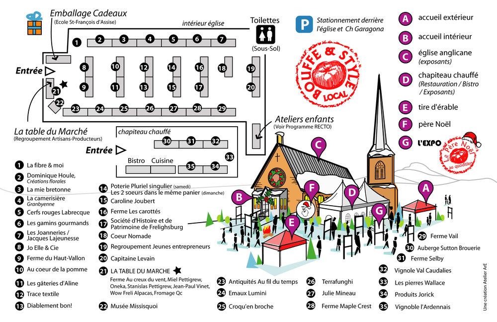 Plan du site du marché 2016
