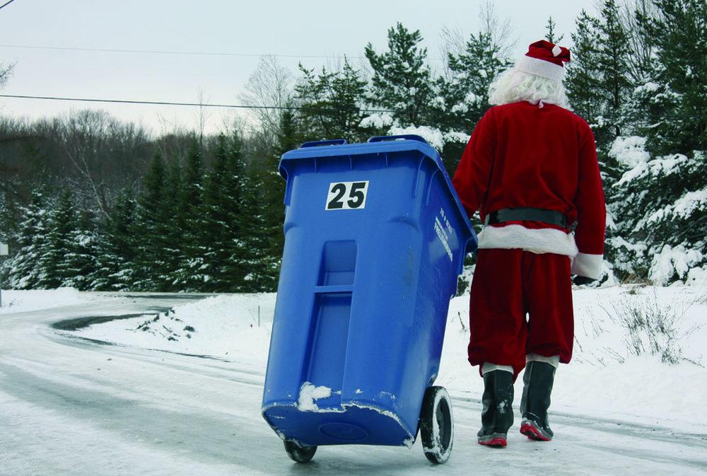 Le Père Noël sort son recyclage