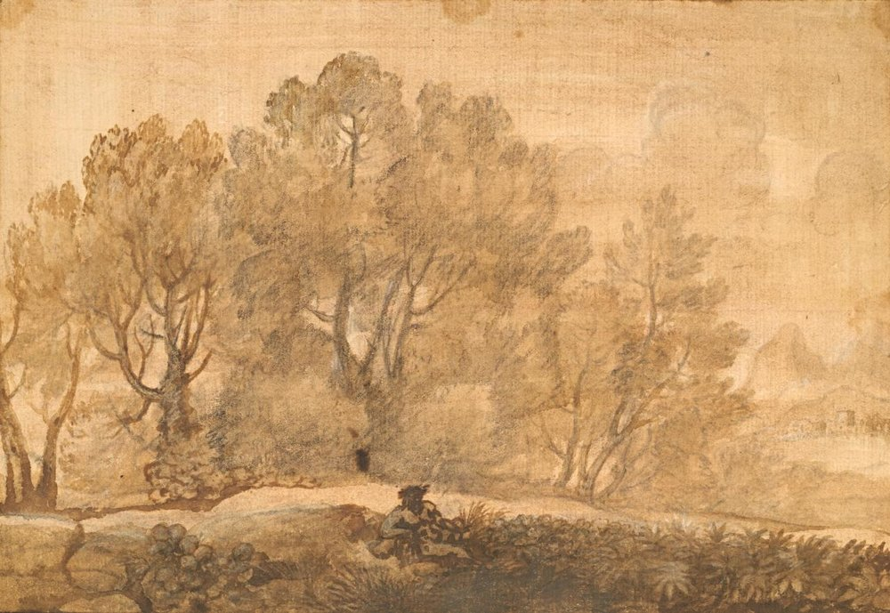 A wooded landscape [1650-55]. Image: Claude Lorrain