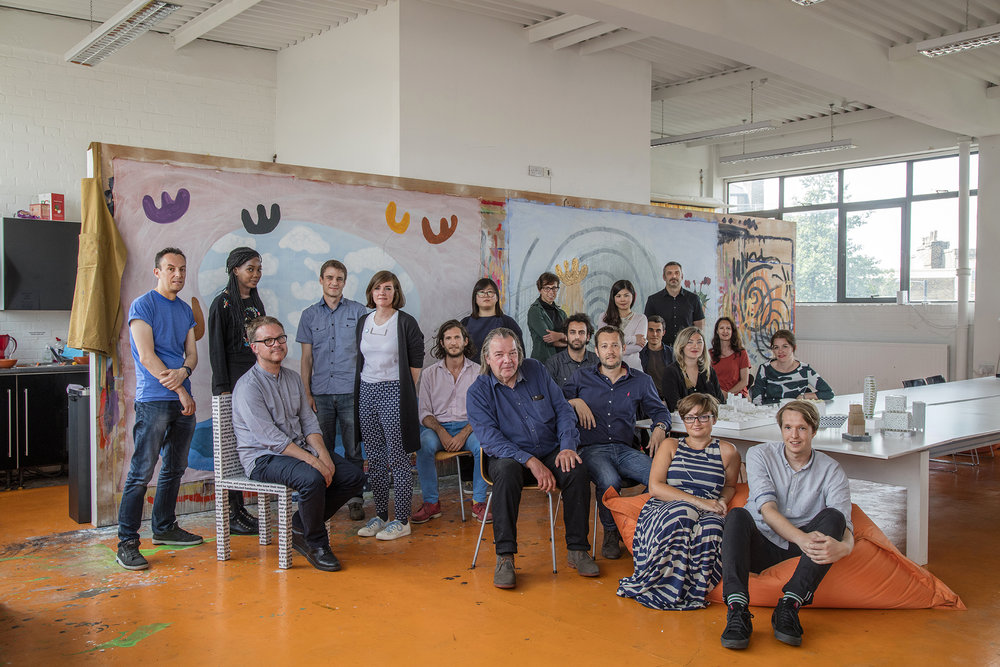 Will Alsop and team at  aLL Design studio . Photo by Morley von-Sternberg