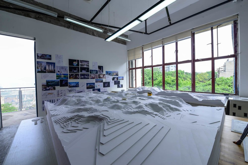 aLL Design site model for project outside Chongqing, China. Photograph by  Robert Tomic