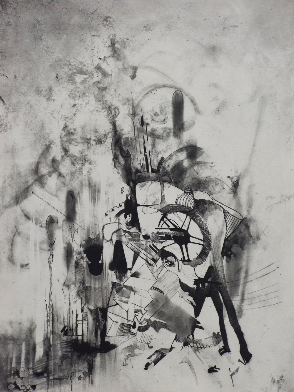 "Walk down memory lane,  2010   22"" x 30""  Photogravure"