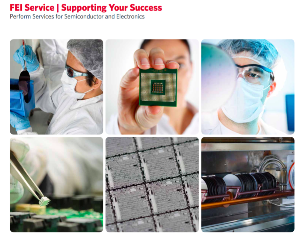 - Four-page marketing collateral describing new service products for electron microscopy customers.