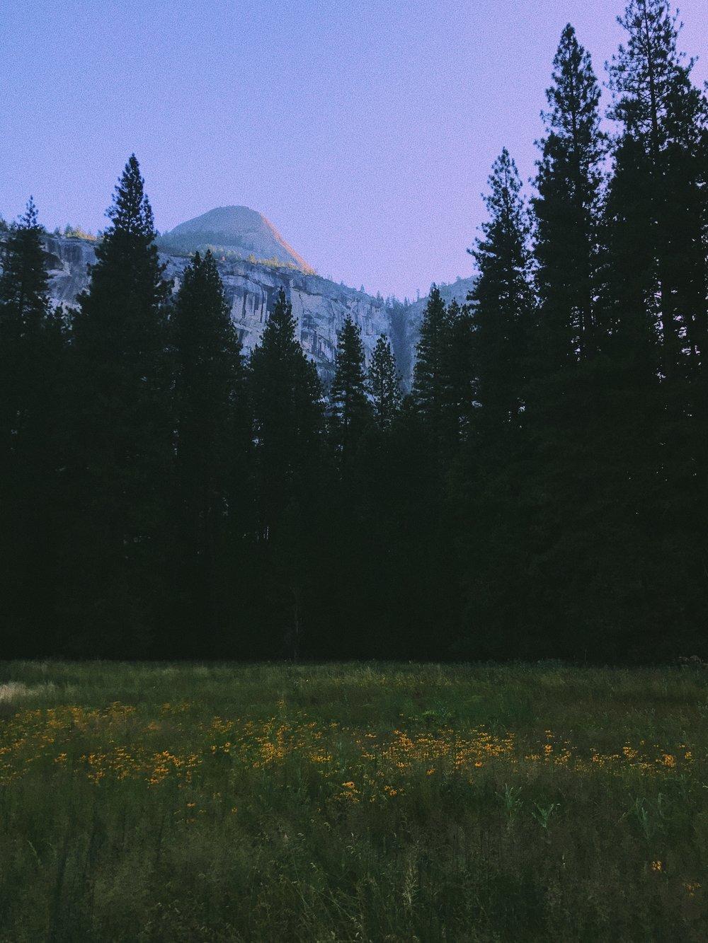 Yosemite at 7:00 a.m.