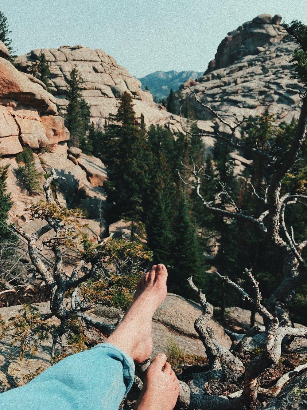 barefoot hike #6, vedauwoo