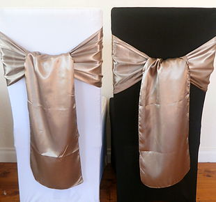 Chair Cover Hire Beige Satin Sash.jpg