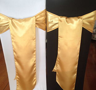 Chair Cover Hire Light Gold Satin Sash.jpg