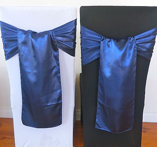 Chair Cover Hire Navy Satin Sash.jpg