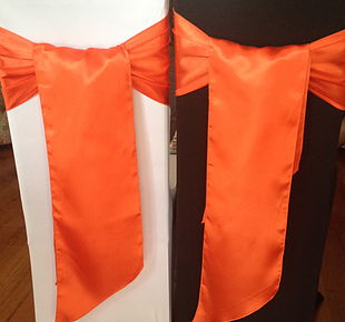 Chair Cover Hire Orange Satin Sash.jpg