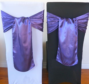 Chair Cover Hire Purple Satin Sash.jpg
