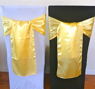 Chair Cover Hire Yellow Satin Sash.jpg