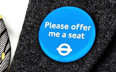 Current London public transport badge for invisible illness