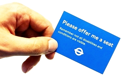 Current London public transport card for invisible illness
