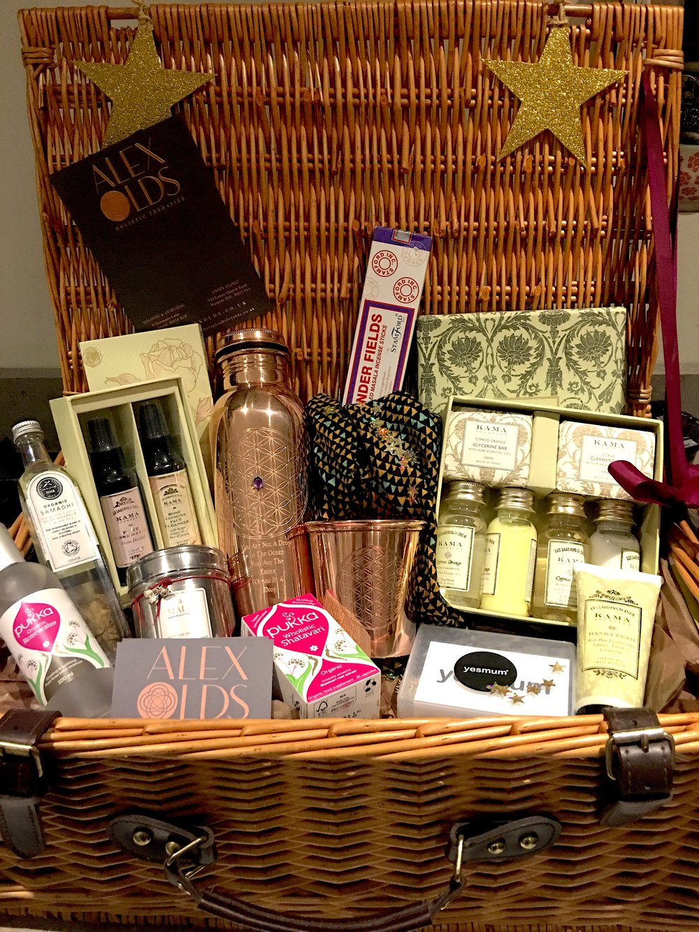 The hamper includes products and treatments worth more than £300+!