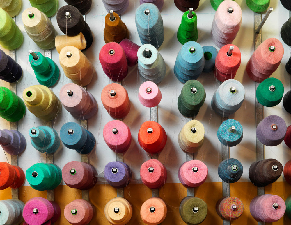 Learn about the many different types of yarn we use.