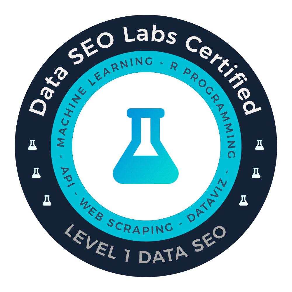 Certifification de compétences Data SEO