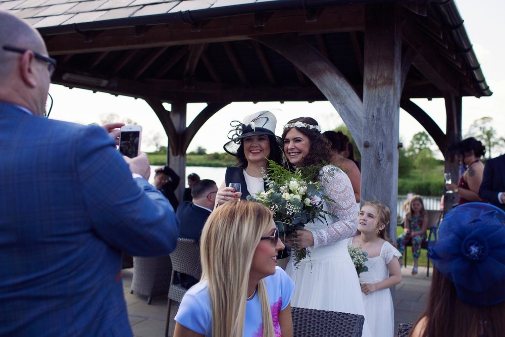 guests at a cheshire wedding 2018 smiling with bride