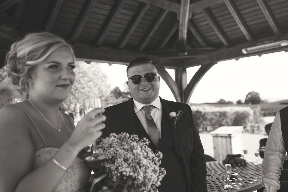 Brides brother looking cool wedding cheshire smiling happy