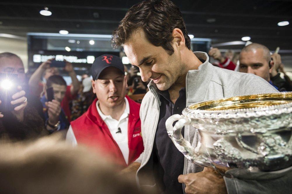 Ankunft Roger Federer