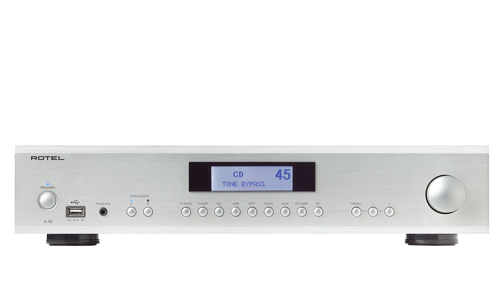 Rotel A12 Integrated Amplifier at Creative Audio in Winnipeg (Silver)