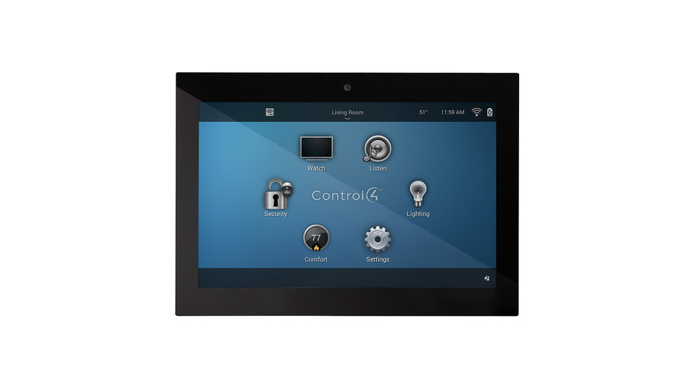 Control4 T3 In-Wall Touch Screen in Winnipeg at Creative Audio (Black)