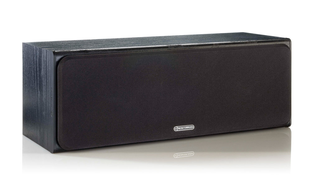 Monitor Audio Bronze Centre Speaker (Black Oak, grill on)