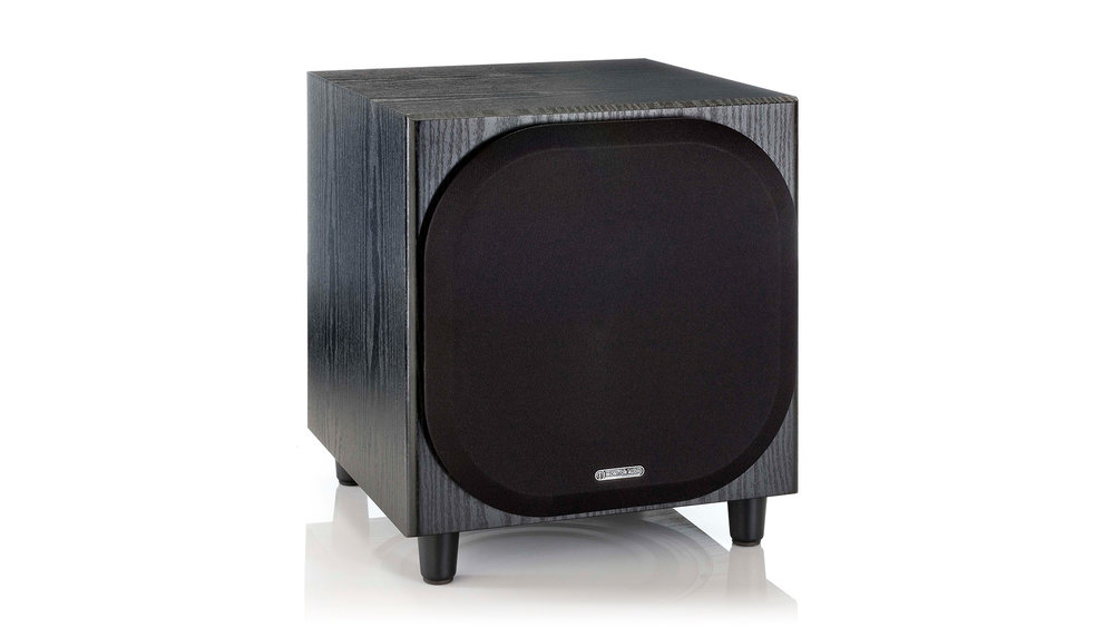 Monitor Audio Bronze W10 Subwoofer (Black Oak, grill on)