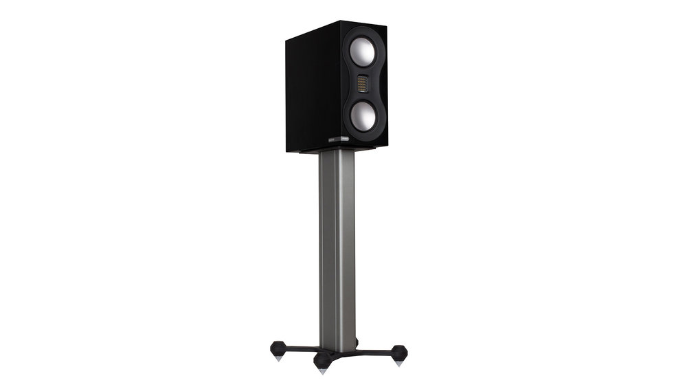 Monitor Audio Studio Bookshelf Speaker at Creative Audio in Winnipeg (Satin Black on Stand)