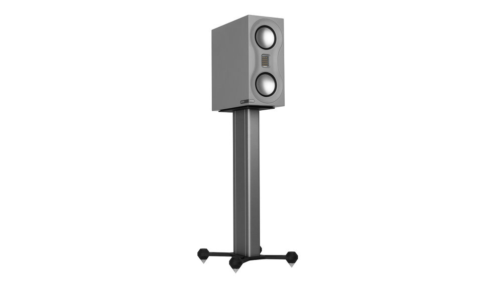 Monitor Audio Studio Bookshelf Speaker at Creative Audio in Winnipeg (Satin Grey on Stand)