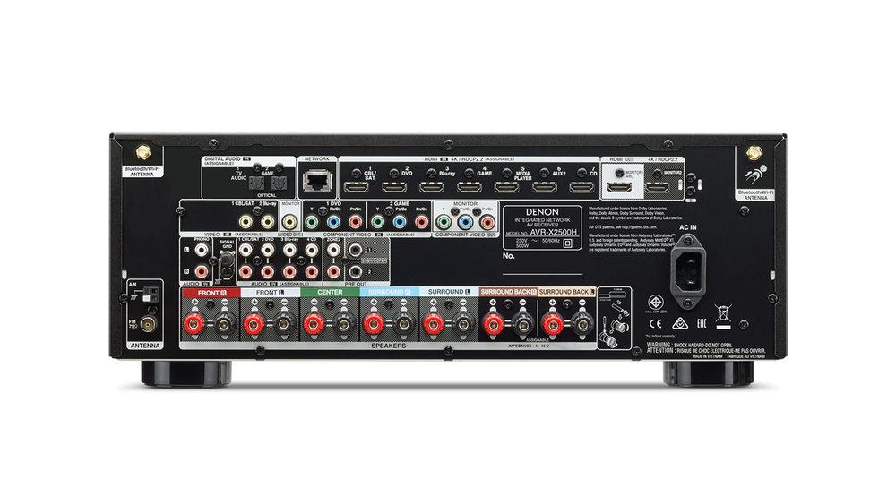 Denon AVR-X2500H AV Surround Receiver (Back) at Creative Audio in Winnipeg