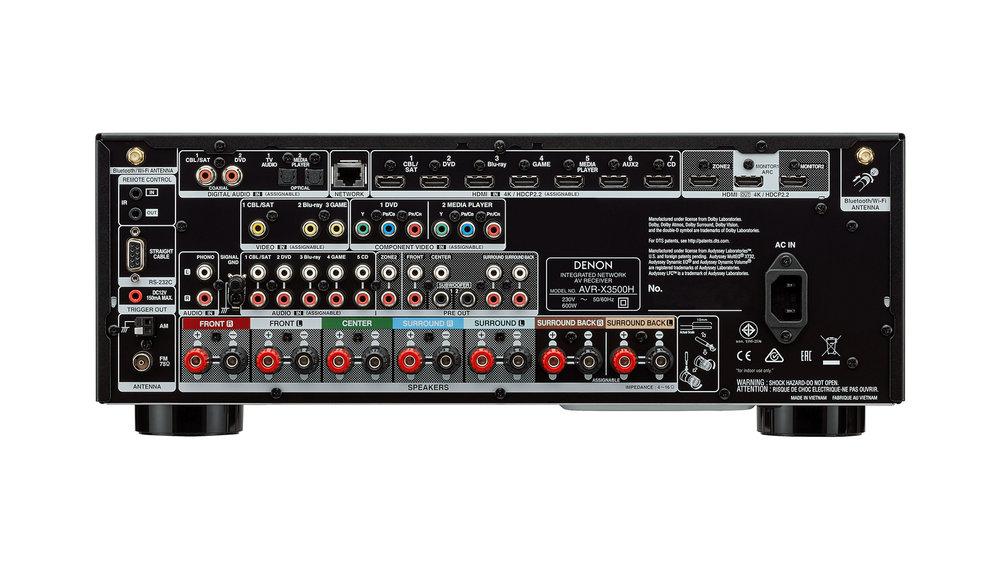 Denon AVR-X3500H AV Surround Receiver (Back) at Creative Audio in Winnipeg