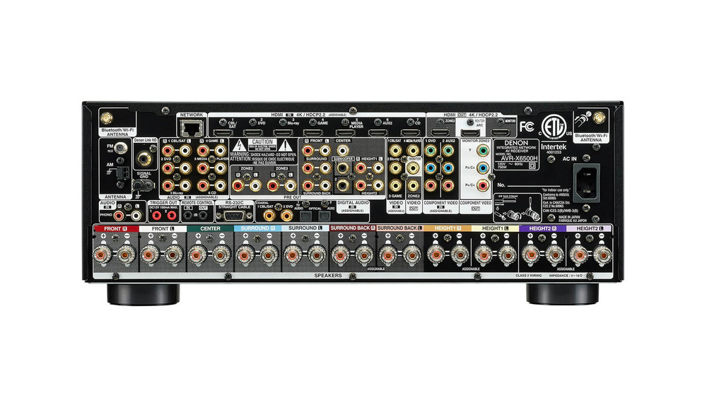 Denon AVR-X6500H AV Surround Receiver (Back) at Creative Audio in Winnipeg