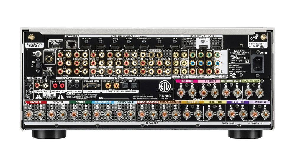 Denon AVR-X8500H AV Surround Receiver (Back) in Winnipeg at Creative Audio