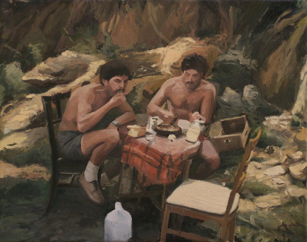 Primeros Días en España, oil on canvas 131 x 165 cm