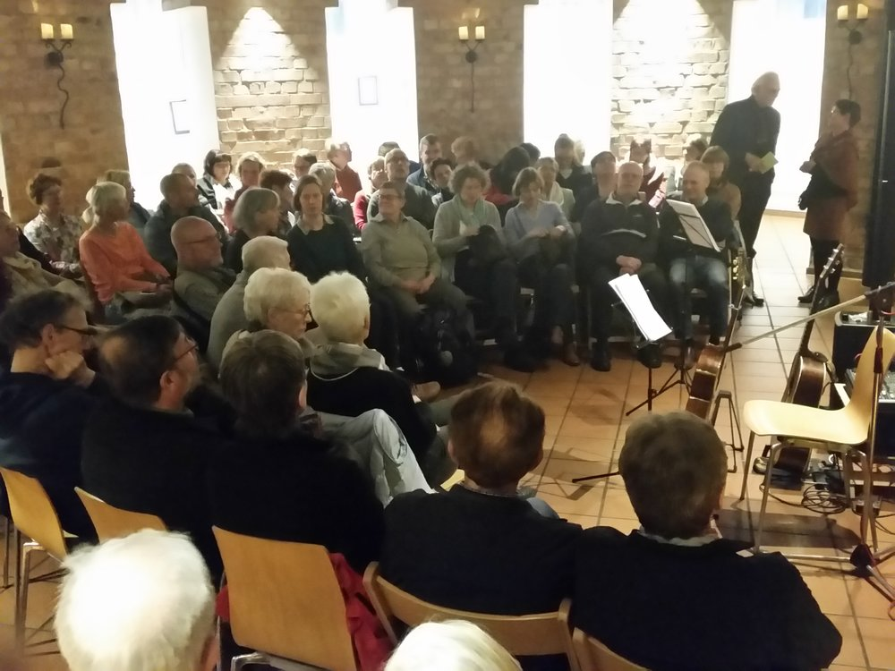 In the water tower in historic Lüneburg. Full house - a great public!