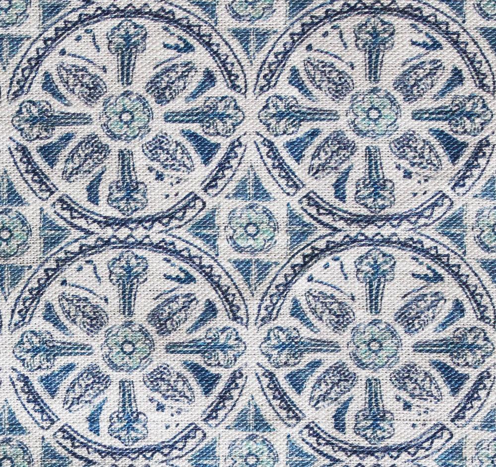 Petite Circle Batik: Blue