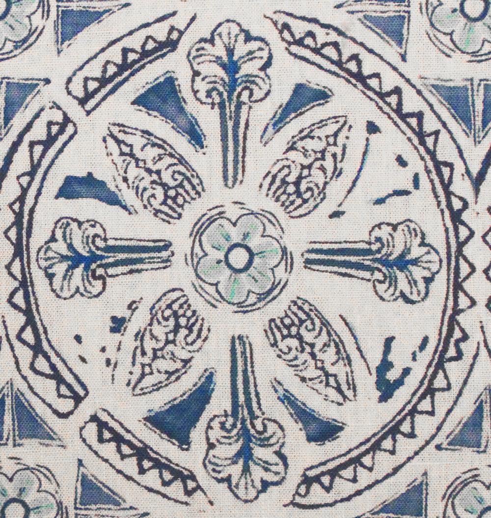 Grand Circle Batik: Blue