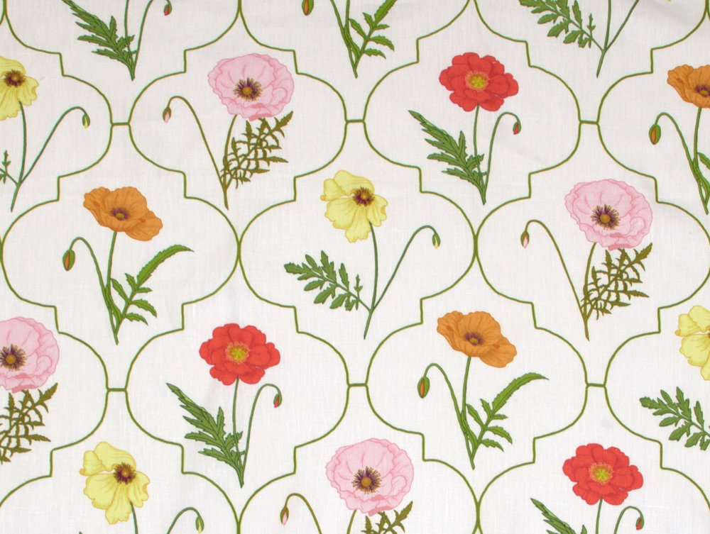 Arabesque Poppy                Color: Multi