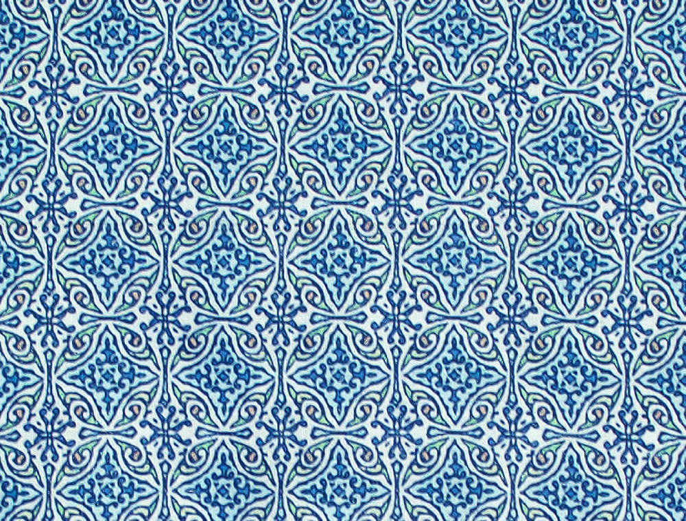 Small Diamond Batik: Blue