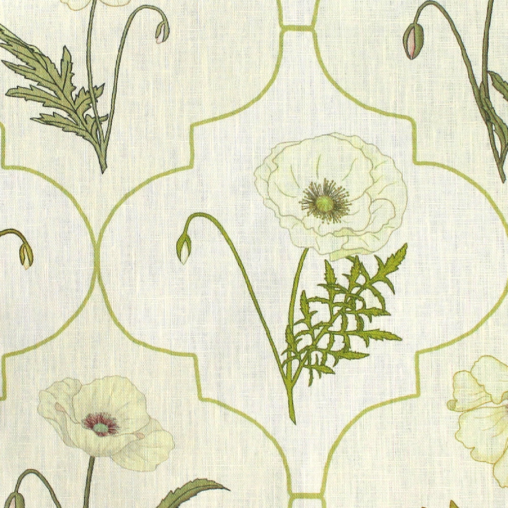 Arabesque Poppy: Cream